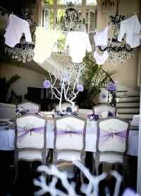 Kara's Party Ideas Pretty Purple Girl Elegant Baby Shower ...