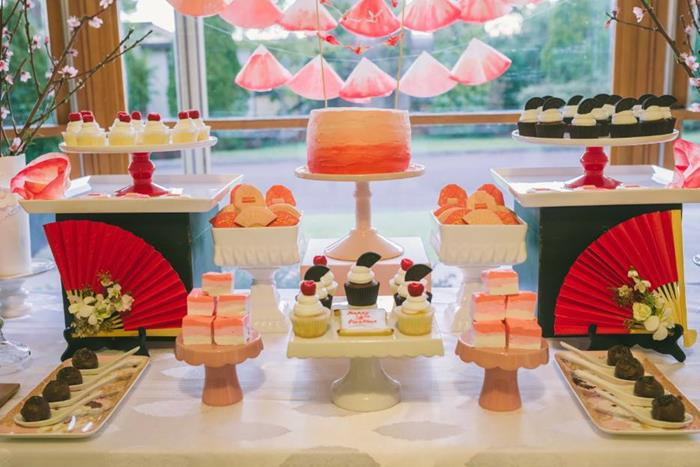 Kara S Party Ideas Japanese Themed Birthday Party With - Party Decoration Japanese