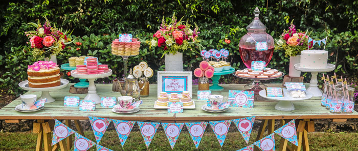 Kara\u0027s Party Ideas Mother\u0027s Day Afternoon Tea Party Dessert Table