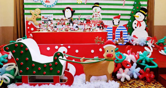 Kara\u0027s Party Ideas Christmas Themed 10th Birthday Party - christmas themes images