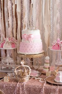 Kara's Party Ideas Elegant Baby Shower | Kara's Party Ideas