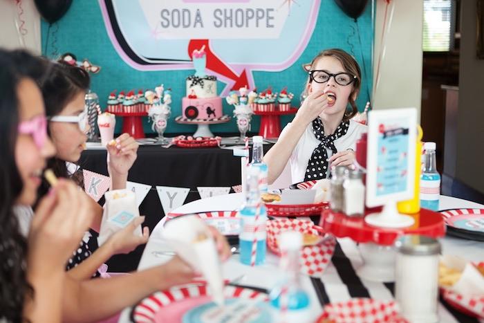 kara u0026 39 s party ideas retro soda shoppe birthday party