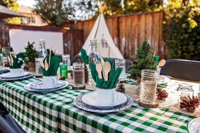 Kara39s Party Ideas Quotglampingquot Glamorous Camping Party