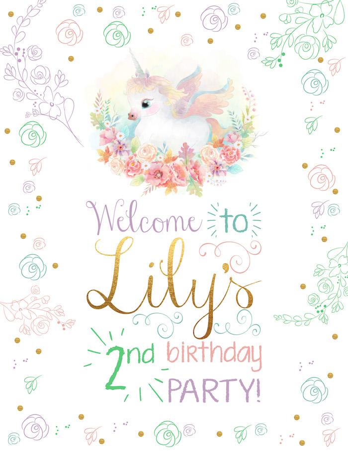 Pretty Little Girl Wallpaper Kara S Party Ideas Pastel Iridescent Unicorn 2nd Bday