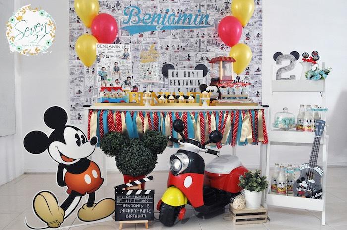 Karas Party Ideas Mickey Mouse themed birthday party - mickey mouse boy birthday party ideas