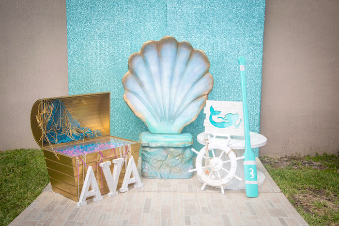 Kara39s Party Ideas Mermaid Cove Birthday Party Kara39s