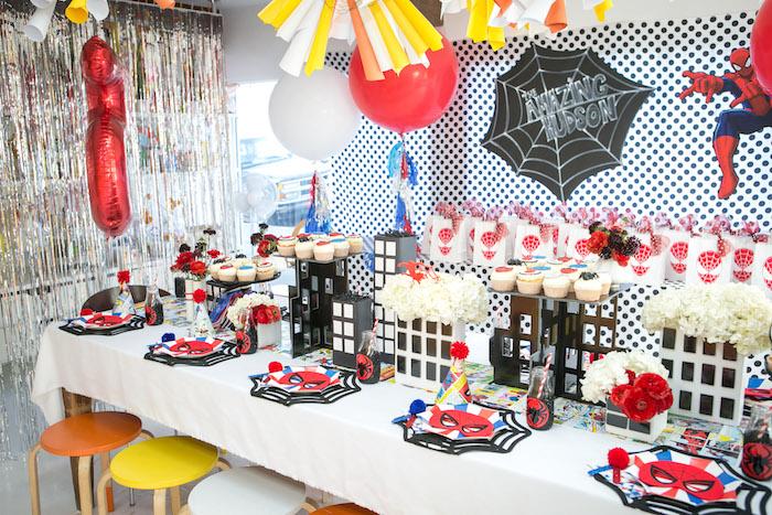 Kara\u0027s Party Ideas Spectacular Spider Man Birthday Party Kara\u0027s - birthday party design