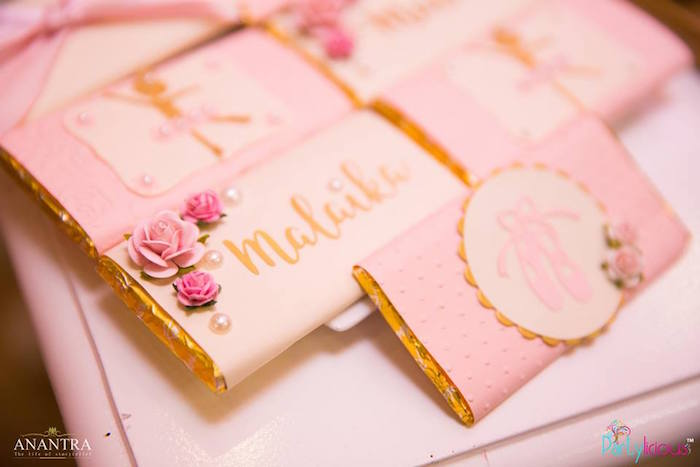 Kara39s Party Ideas Gold Pink Ballerina Birthday Party