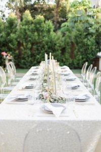Kara's Party Ideas Elegant Backyard 40th Birthday Party ...