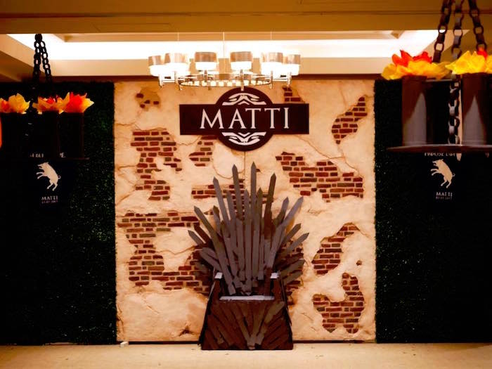 Fall Dessert Wallpaper Kara S Party Ideas Throne Photo Booth Backdrop From A