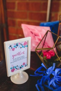 Kara's Party Ideas Geometric Gender Reveal Baby Shower ...