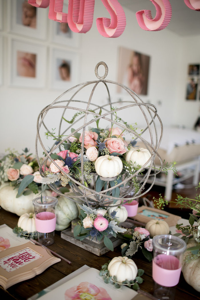 Shower Ideas Kara's Party Ideas Floral Fall Baby Shower | Kara's Party