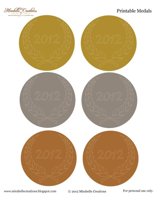 Kara\u0027s Party Ideas Olympic Themed Party- Free Printables! Kara\u0027s - gold medal templates