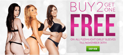 Buy 2 Fleshlight Girls Get 1 Free Black Friday Sale