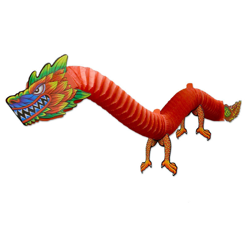 Dragon Décoration Hanging Chinese Party Dragon - Party Decoration Paper