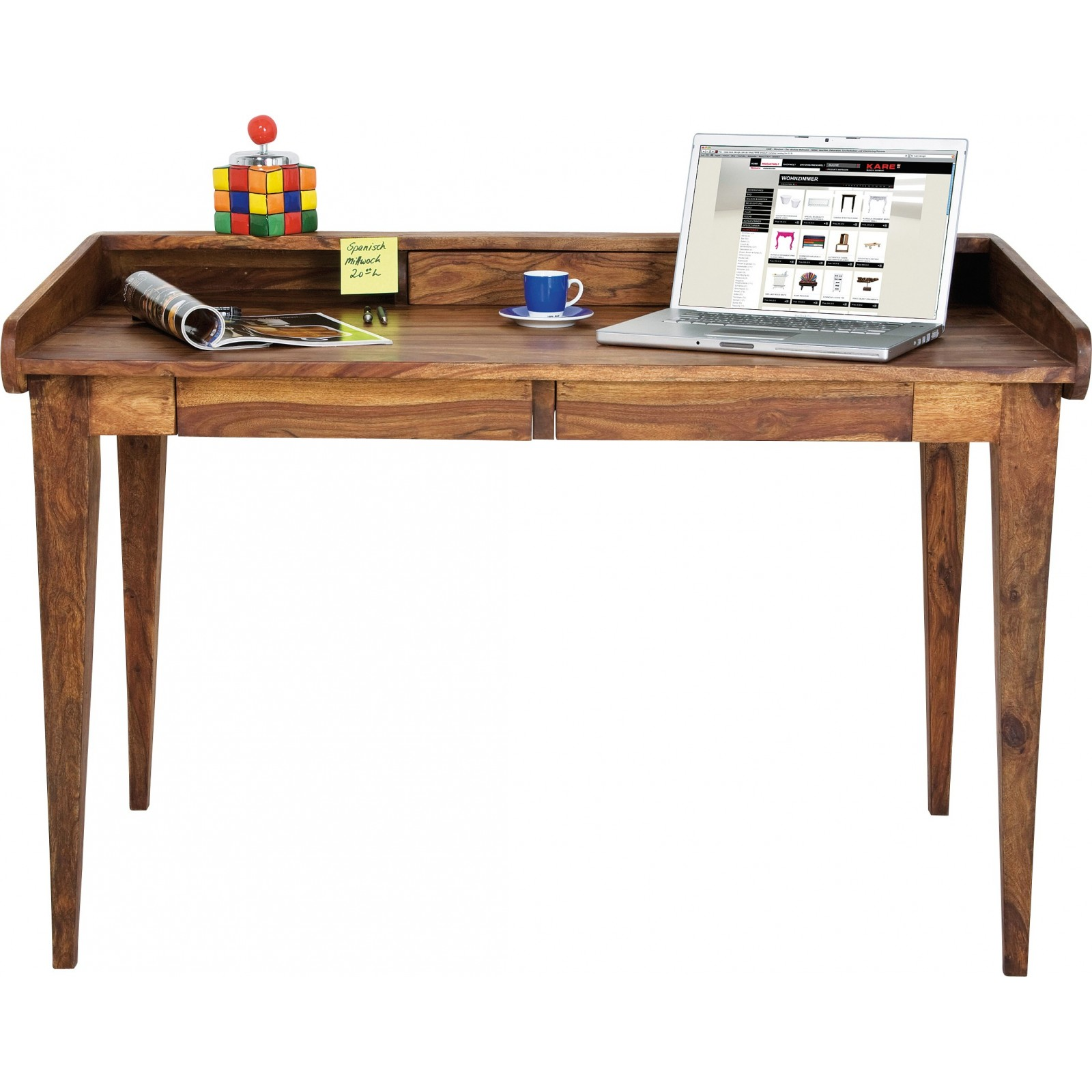 Mesa Escritorio Vintage Bureau Rustique Bois Authentico Lady Kare Design