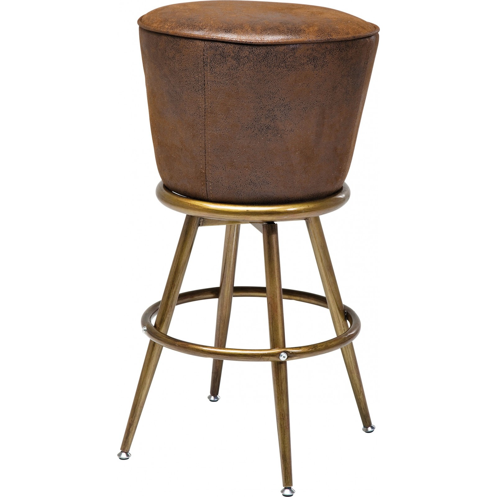 Tabourets De Bar Ronds Tabouret De Bar Vintage Marron Lady Rock Kare Design