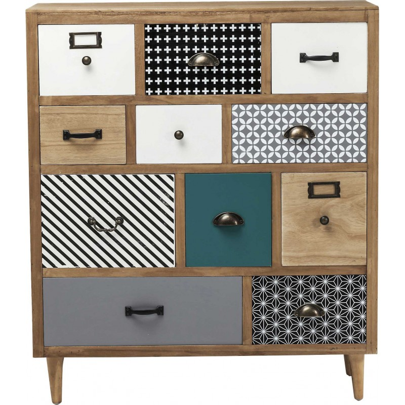 Meuble Scandinave Bordeaux Commode Scandinave En Bois - Capri - Kare Design