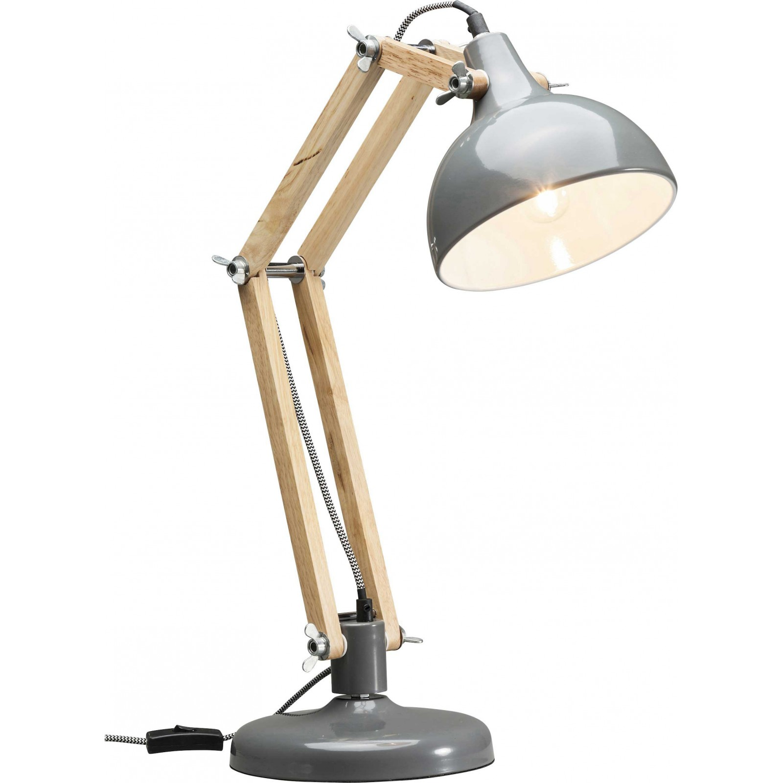 Decoration Murale Grise Lampe De Table Grise - Work Station - Kare Design