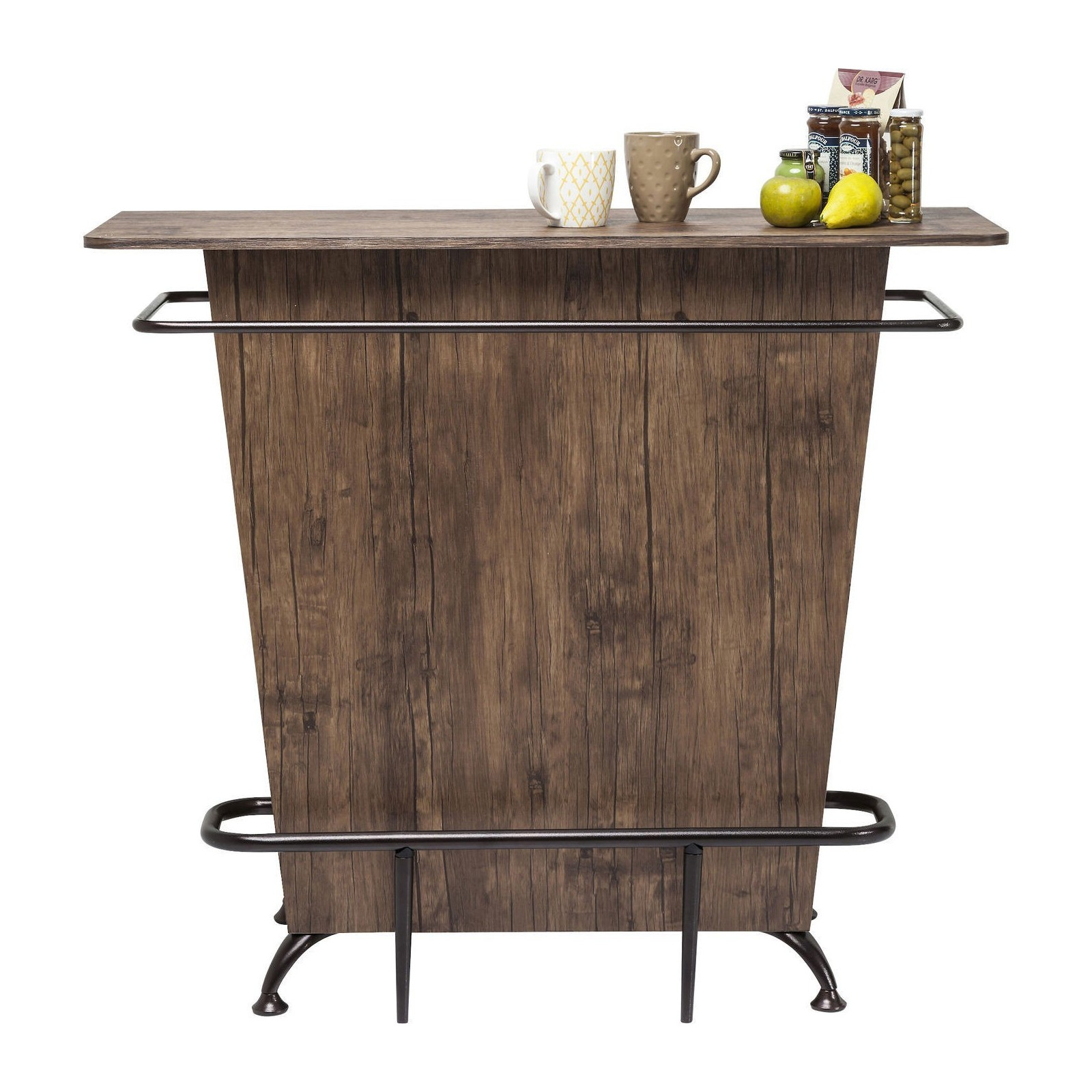 Solde Canape Lit Bar Rustique Bois - Lady Rock Walnut - Kare Design