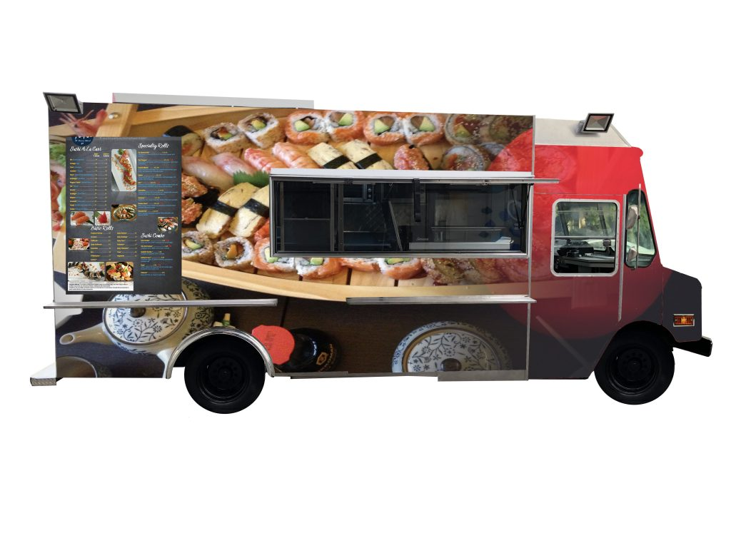 Japanese Cuisine Food Truck Sushi Food Truck By Kareem Carts Manufacturing Company