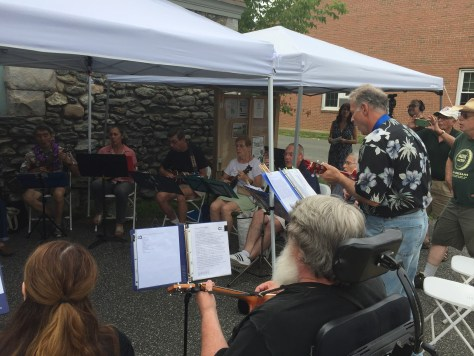The Berkshire Ukulele Band gave us the second set. David has taught many of these players i his uke classes at Berkshire Community College. .