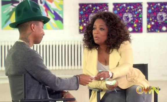 Oprah interviews Pharrell Williams