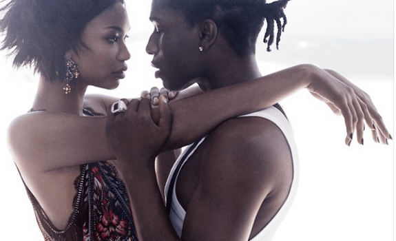 A$AP Rocky, Chanel Iman in Vogue