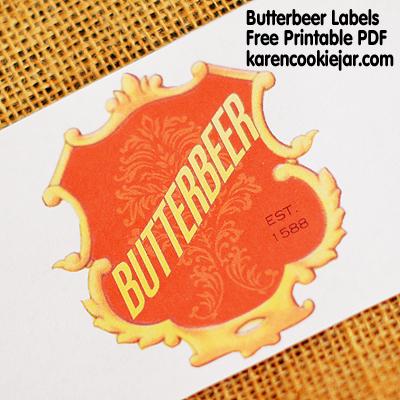 Free Printable Harry Potter Butterbeer Labels