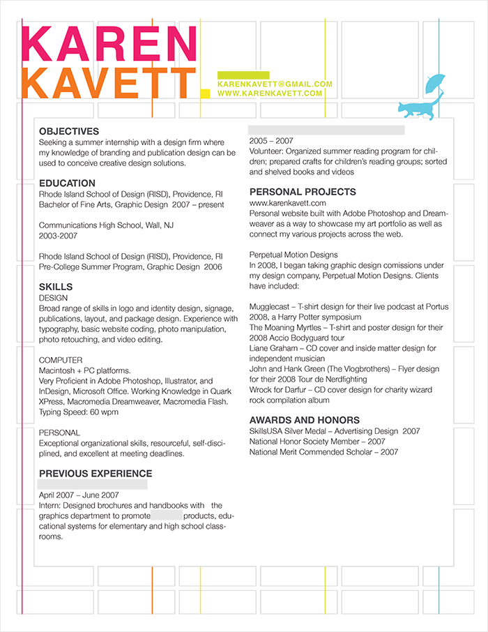 How to Design a Resume - Karen Kavett