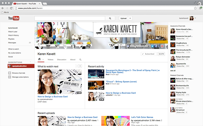 How to Design for the New YouTube Channels Karen Kavett