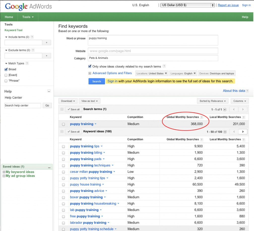 Google Adwords Keywords Use Google Adwords Keyword Planner To Help Market Your Self