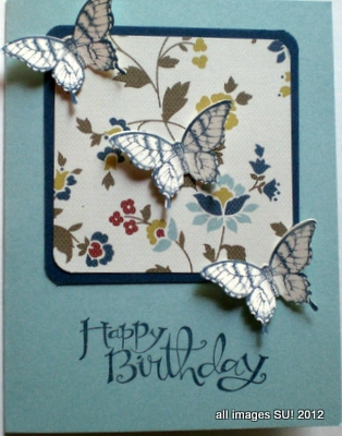 Stampin\u0027 Up! Elegant Butterfly Punch Birthday Cards and More!
