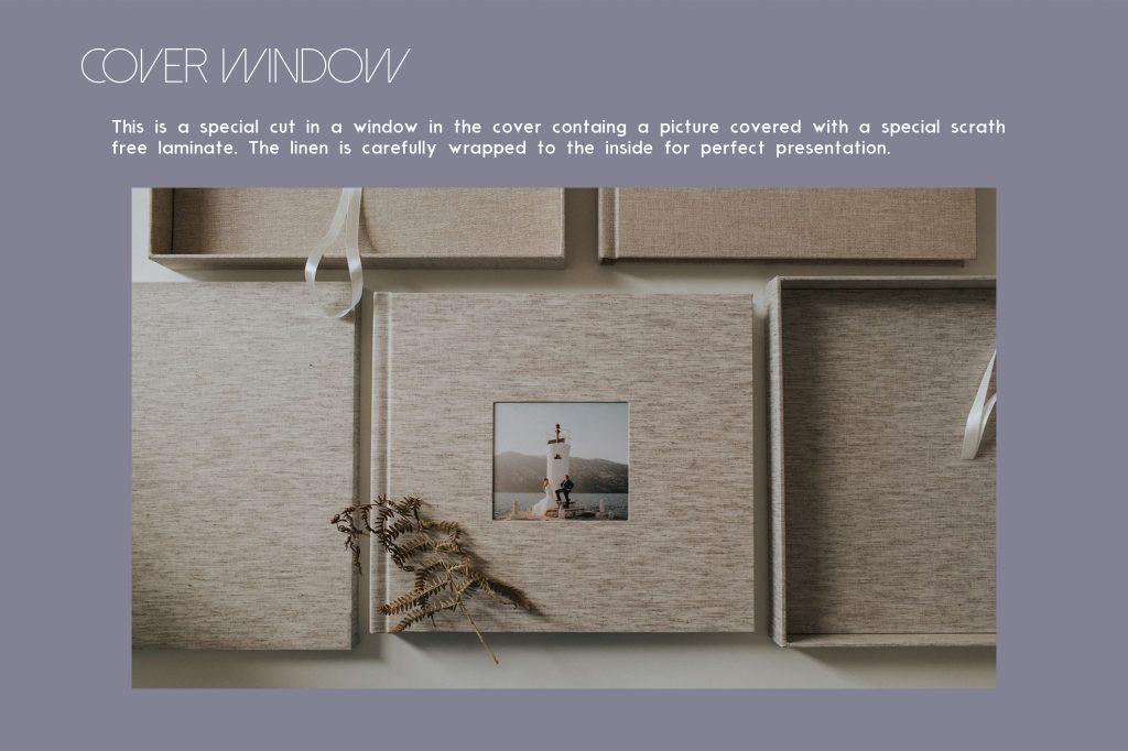Your Album Order Form Artbook Albums - Kari Bellamy Photography - presentation cover with window