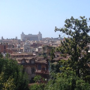 view from villa borghese