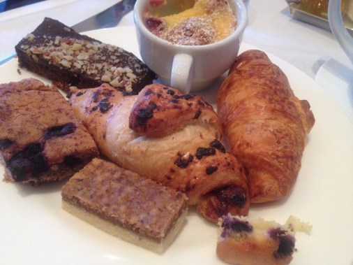 croissants, pastries, breakfast buffet