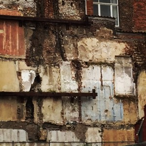 Even walls of torn down buildings were beautiful