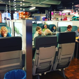 airplane seats in restaurant, attractions,