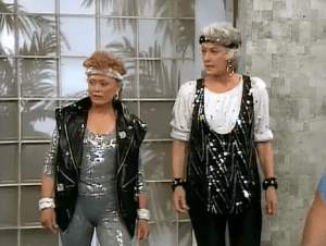 dorothy and blanche. bea arthur and rue mclanahan.