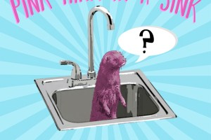 There's a PINK MINK IN MY SINK!!!