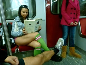 No Pants Subway Ride, Toronto, Canada -- Karina Noriega