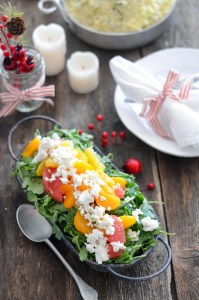 Arugula and Citrus Salad with Crumbled Goat Cheese 4