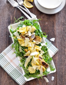 Roasted Artichoke and Arugula Salad with Shaved Parmesan 2