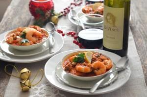 Italian Sausage and Shrimp Stew 1 with wine