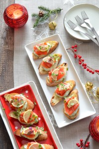 Smoked Salmon with Herbed Ricotta Crostini without wine 6