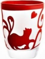 kariyazaki 猫グラス赤