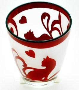 会津漆彫刻グラス