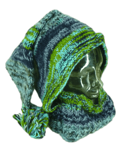 Blue warm winter hood| Karma Gear