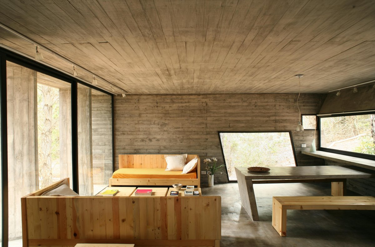 Concrete House Interior Concrete House In Mar Azul Forest By Bak Architects