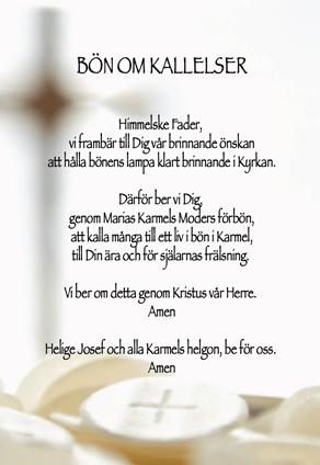Bön om kallelser
